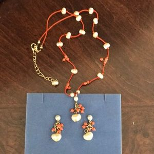 Kate Spade Corrals Necklace and earrings